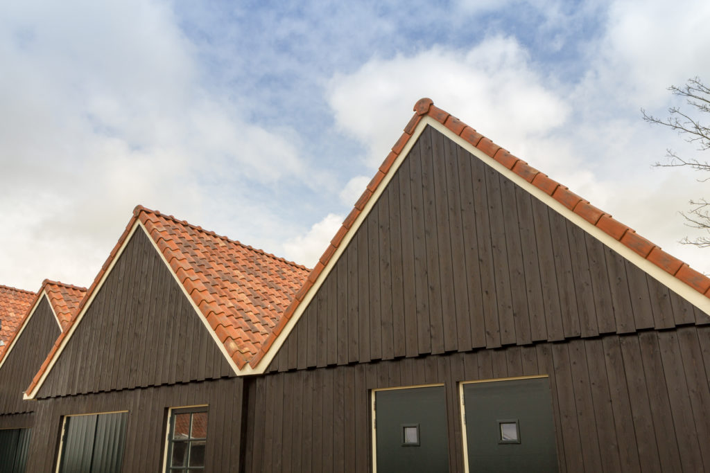 Roofs in hindeloopen holland