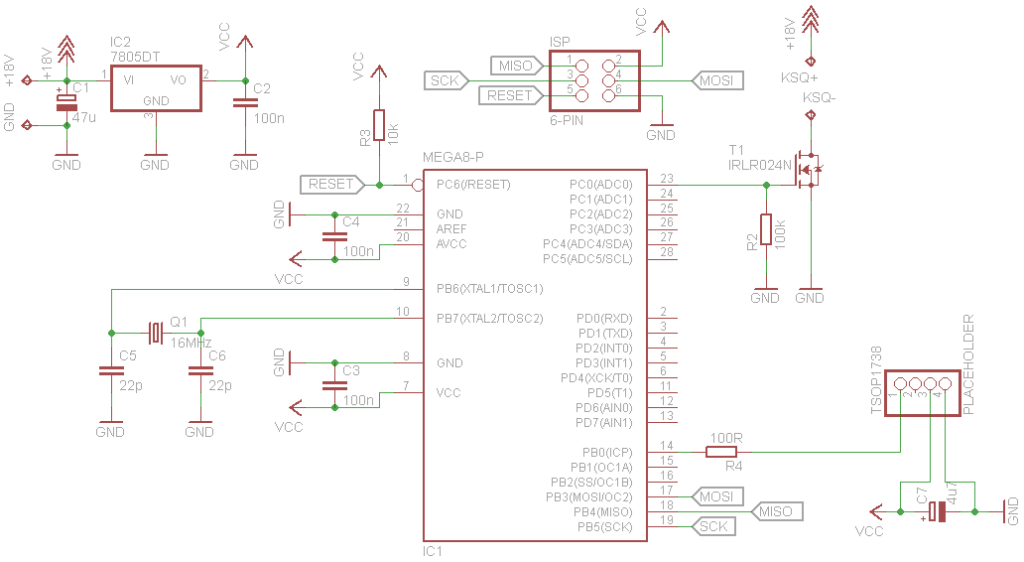 Schematic for backlight controller