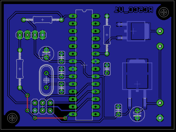 Layout of the backlight controller